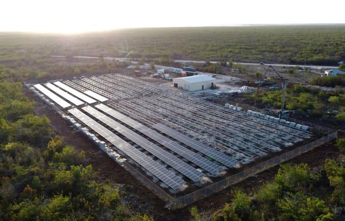 Solar microgrid in Barbuda