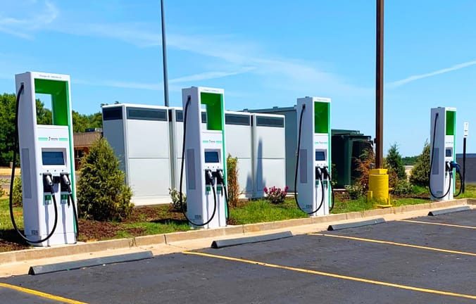 Electrify America charging station
