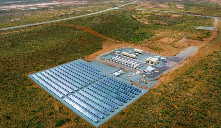 solar and battery plant